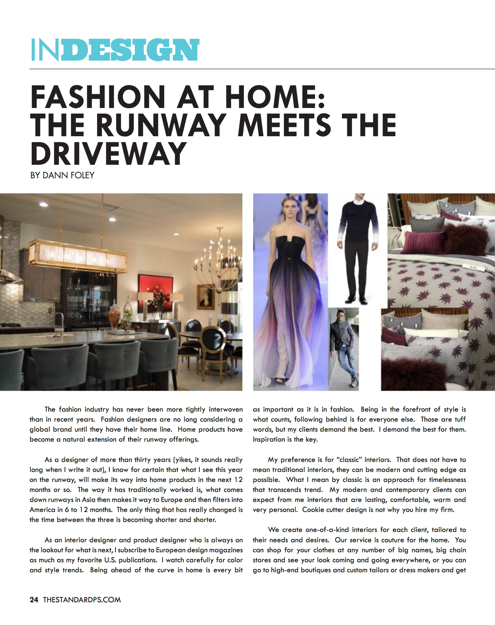 Fashion At Home The Runway Meets The Driveway Foley Stinnette